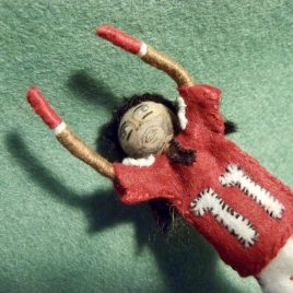 Larry Fitzgerald Arizona Cardinals Felt Miniature