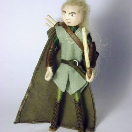 Legolas Wood Elf Felt Miniature
